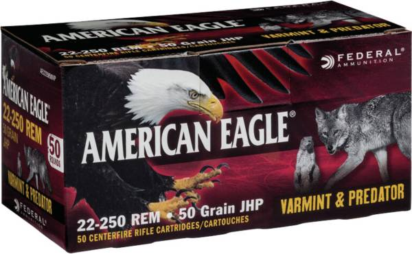Federal American Eagle Varmint & Predator Rifle Ammo – 50 Rounds product image