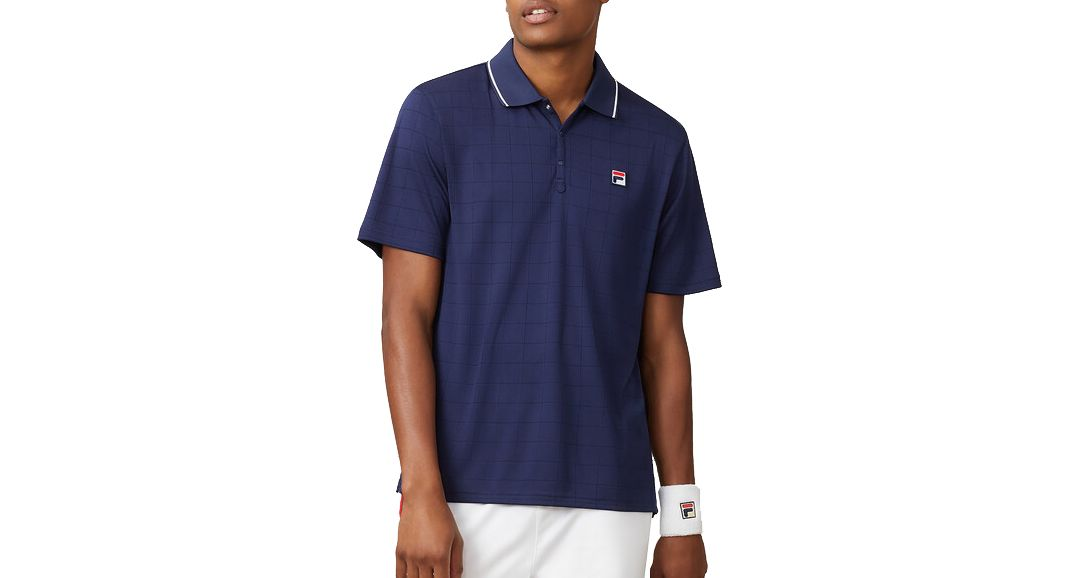 639ce0fad10 FILA Men's Heritage Drop Needle Tennis Polo | DICK'S Sporting Goods