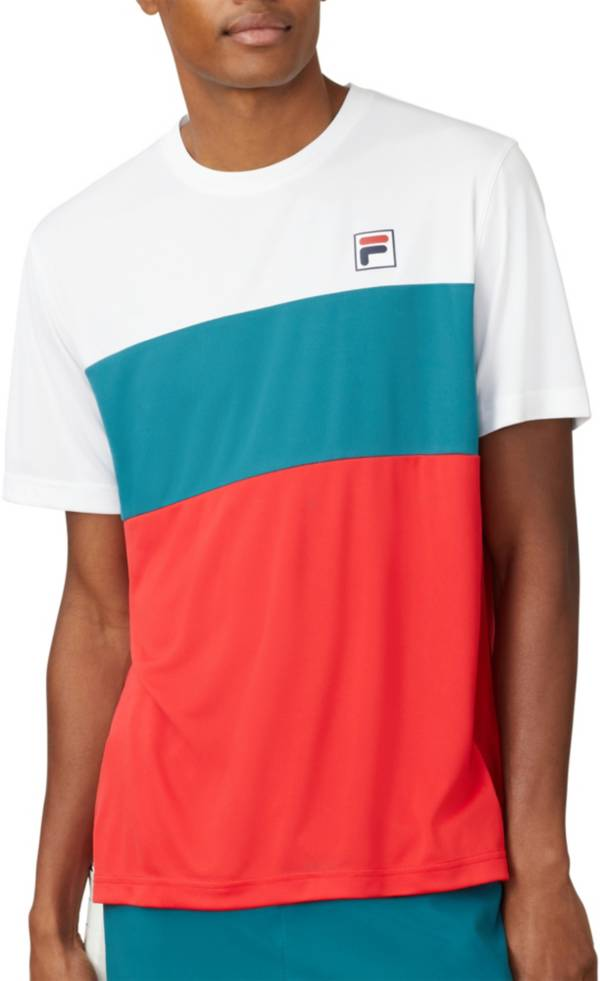 FILA Men's Legend ColorBlock Crewneck Tennis Shirt product image