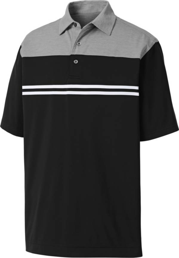 FootJoy Men's Heather Colorblock Lisle Golf Polo product image