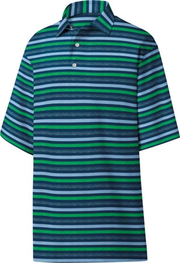 FootJoy Men's Lisle Melange Stripe Golf Polo product image