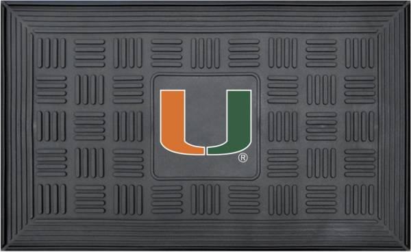 FANMATS Miami Hurricanes  Door Mat product image