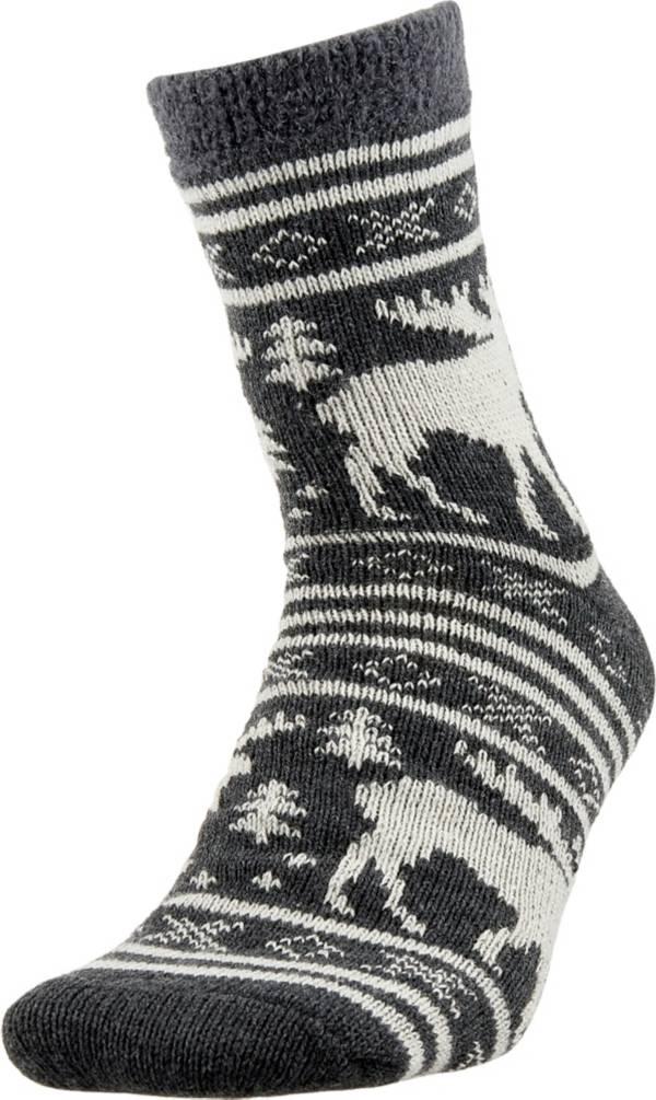 Field & Stream Men's Cozy Cabin Moose Stripe Socks product image