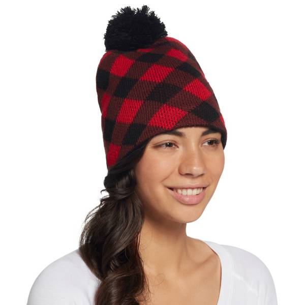 Field & Stream Women's Cabin Buffalo Checkered Pom Beanie product image
