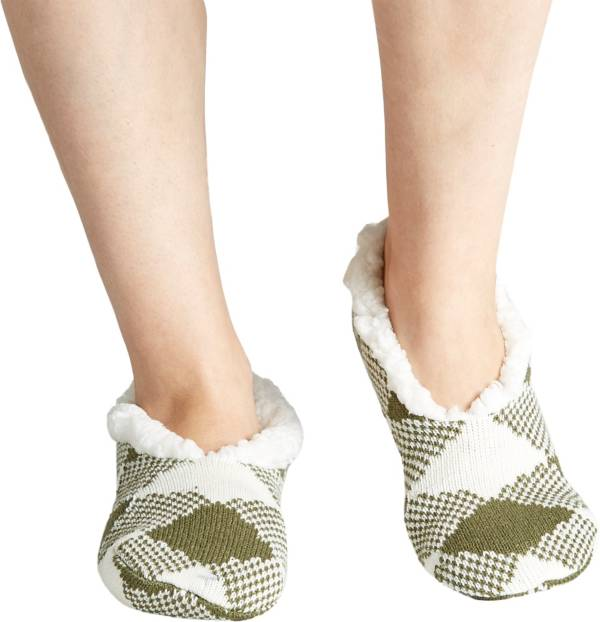 Field & Stream Women's Cozy Cabin Buff Check Slipper Socks product image