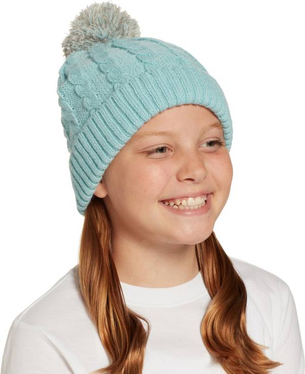 Field & Stream Girls' Cabin Cable Pom Beanie product image