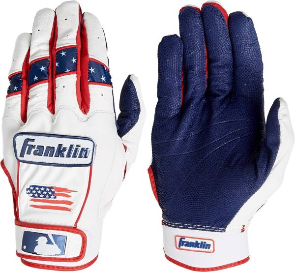 Franklin Adult CFX Pro Chrome Fourth of July Batting Gloves product image