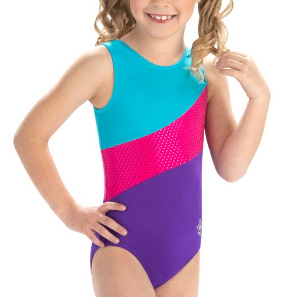 GK Elite Youth Lucky Swirl Gymnastics Leotard product image