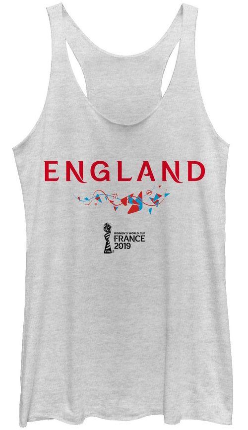 a999677ed601c6 Fifth Sun Women s 2019 Women s FIFA World Cup England Graphic White  Racerback Tank Top. noImageFound. 1
