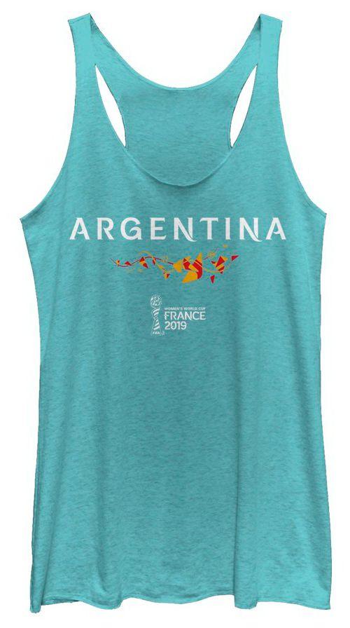 1167e1c3716c30 Fifth Sun Women s 2019 Women s FIFA World Cup Argentina Graphic Blue  Racerback Tank Top. noImageFound. 1