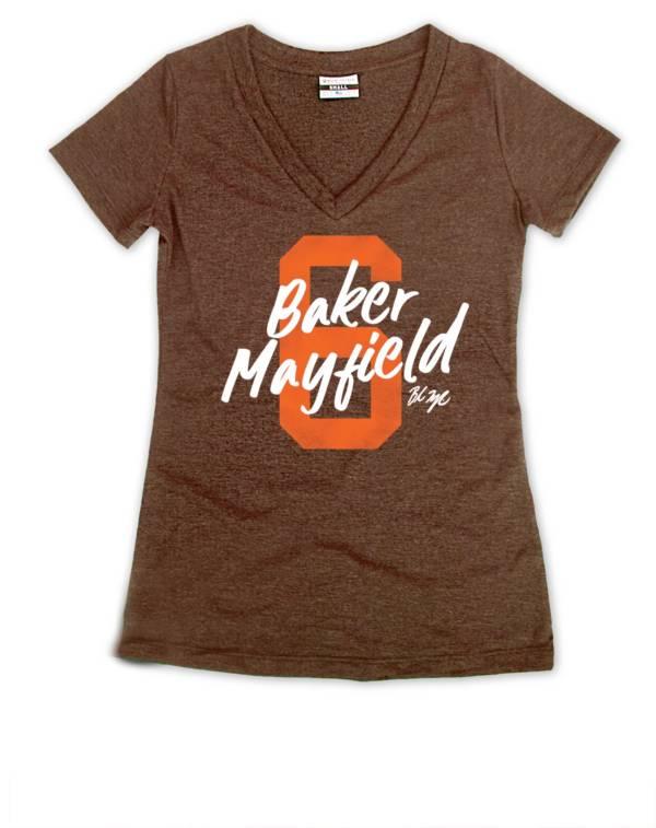 Where I'm From Women's Baker 6 Brown Tri-Blend V-Neck T-Shirt product image