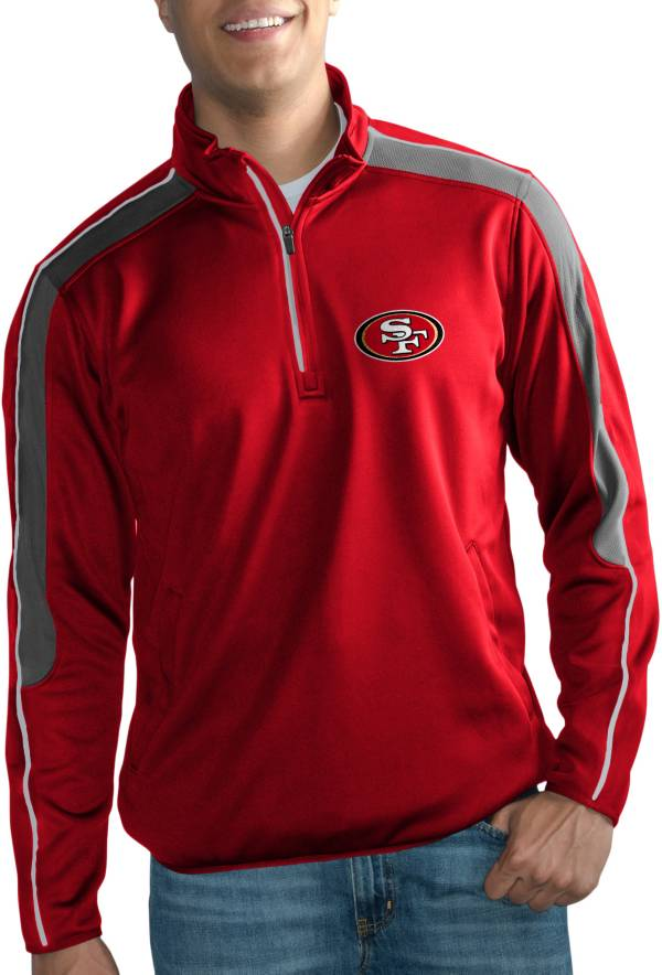 G-III Men's San Francisco 49ers I-Form Quarter-Zip Red Pullover Jacket product image