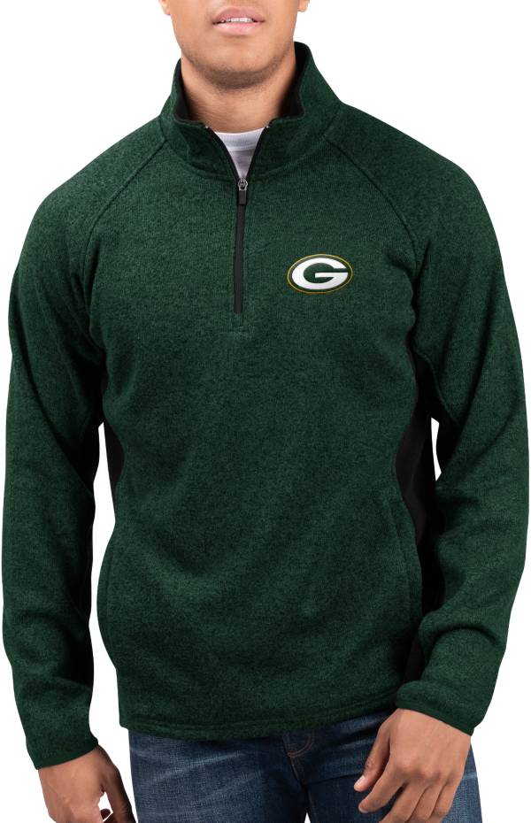 G-III Men's Green Bay Packers Centerfold Half-Zip Green Jacket product image