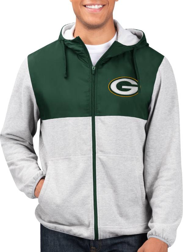 G-III Men's Green Bay Packers Intermission Full-Zip Grey Jacket product image