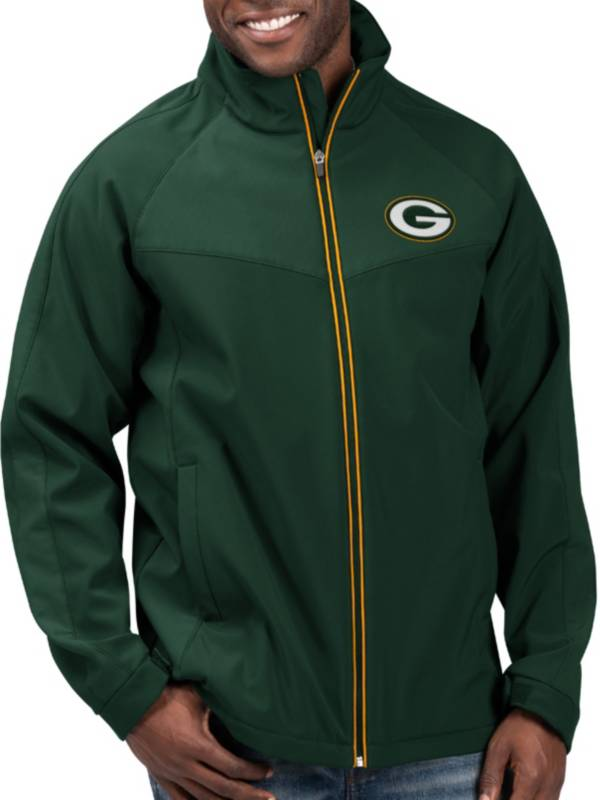 G-III Men's Green Bay Packers Warning Track Full-Zip Green Jacket product image