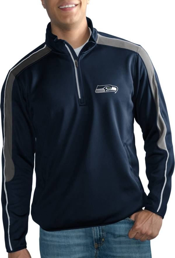 G-III Men's Seattle Seahawks I-Form Quarter-Zip Navy Pullover Jacket product image