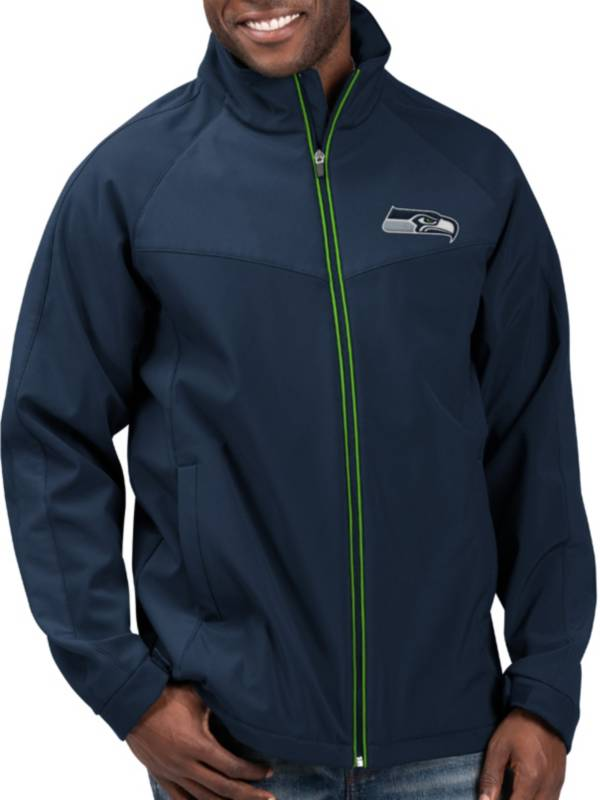 G-III Men's Seattle Seahawks Warning Track Full-Zip Navy Jacket product image