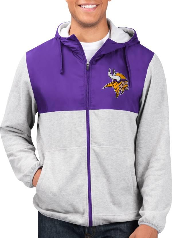G-III Men's Minnesota Vikings Intermission Full-Zip Grey Jacket product image