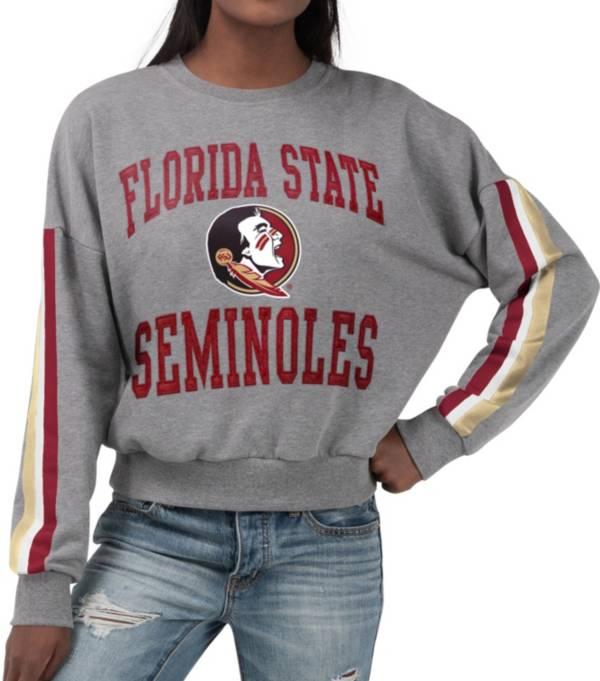 G-III For Her Women's Florida State Seminoles Grey Freshman Crew Neck Sweatshirt product image