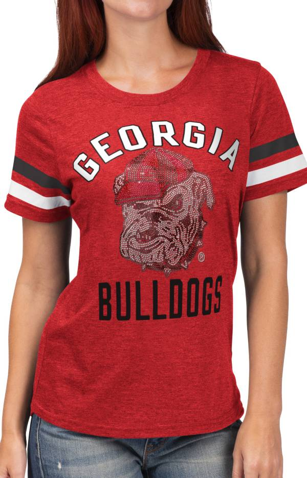 G-III For Her Women's Georgia Bulldogs Red Extra Point T-Shirt product image