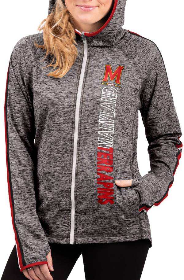 G-III For Her Women's Mary Marauders Grey Free Agent Full-Zip Hoodie product image