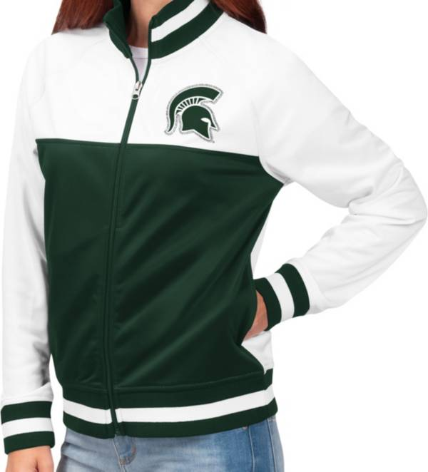 G-III For Her Women's Michigan State Spartans Green/White Face Off Full-Zip Jacket product image