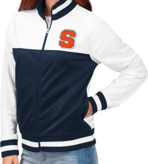 G-III For Her Women's Syracuse Orange Blue/White Face Off Full-Zip Jacket product image