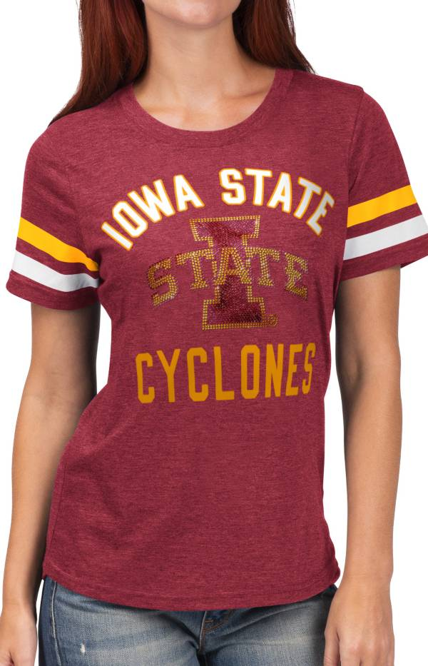 G-III For Her Women's Iowa State Cyclones Cardinal Extra Point T-Shirt product image