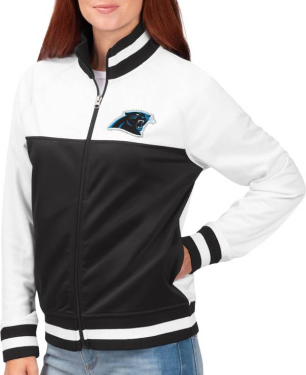 G-III for Her Women's Carolina Panthers Faceoff Rhinestone Full-Zip Track Jacket product image