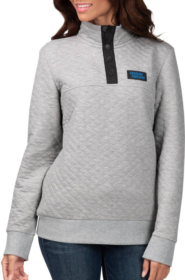 G-III for Her Women's Carolina Panthers First Hit Quilted Pullover Jacket product image