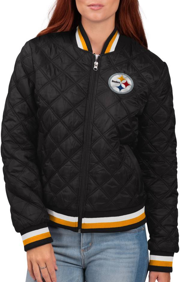 G-III for Her Women's Pittsburgh Steelers Goal Line Full-Zip Bomber Jacket product image