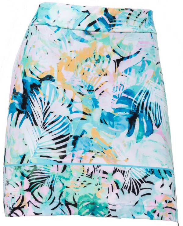 "EP Pro Women's 19"" Pull-On Watercolor Tropical Golf Skort product image"