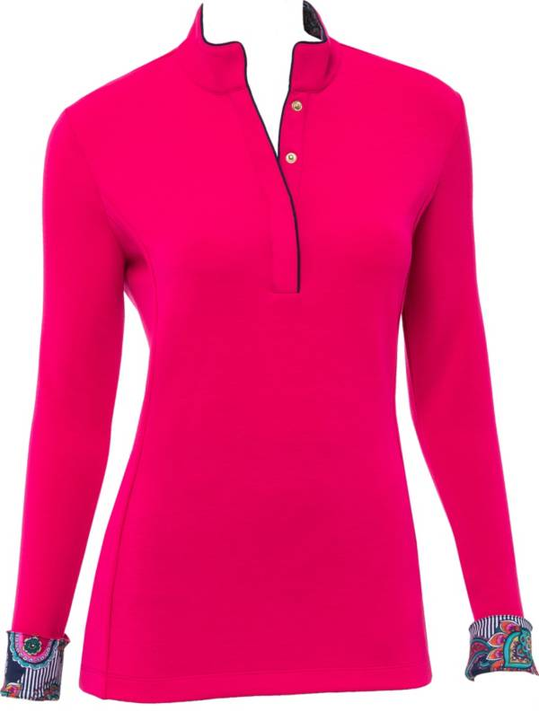 EP Pro Women's Long Sleeve Mock Neck Golf Pullover product image
