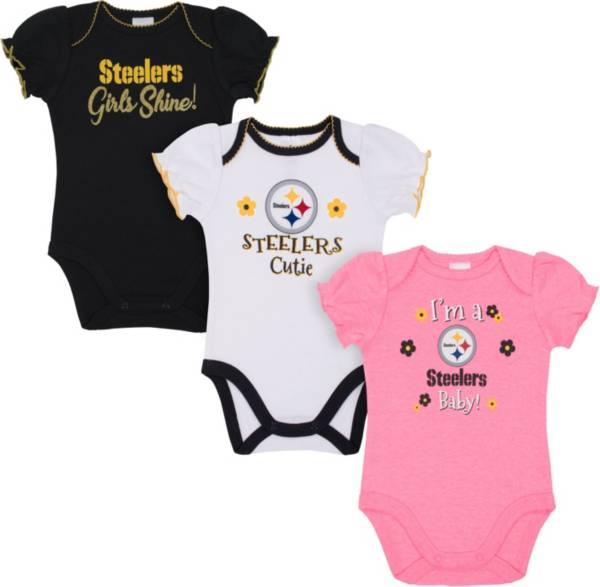 Gerber Infant Girls' Pittsburgh Steelers Onesie 3-Pack Bodysuit product image