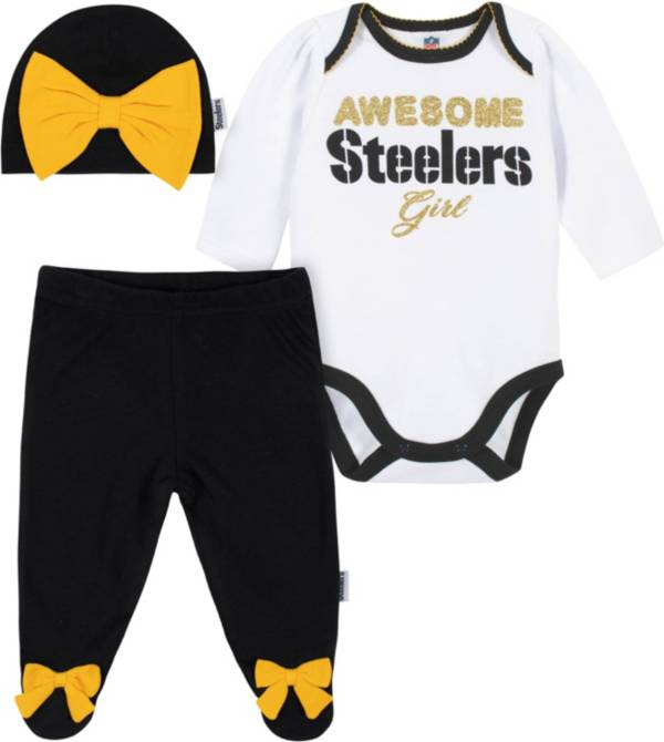 Gerber Infant Girls' Pittsburgh Steelers Onesie Footed Pants Set product image