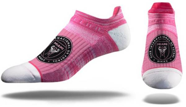 Strideline Inter Miami CF No Show Pink Crew Socks product image