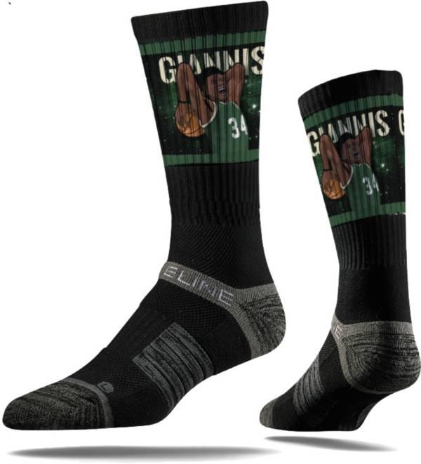 "Strideline Milwaukee Bucks ""Greek Freak"" Slam Dunk Crew Socks product image"