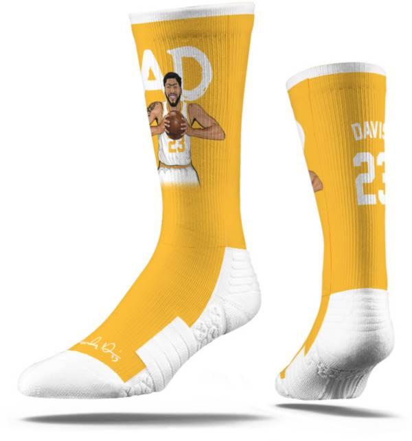 Strideline Los Angeles Lakers Anthony Davis Yellow Crew Socks product image
