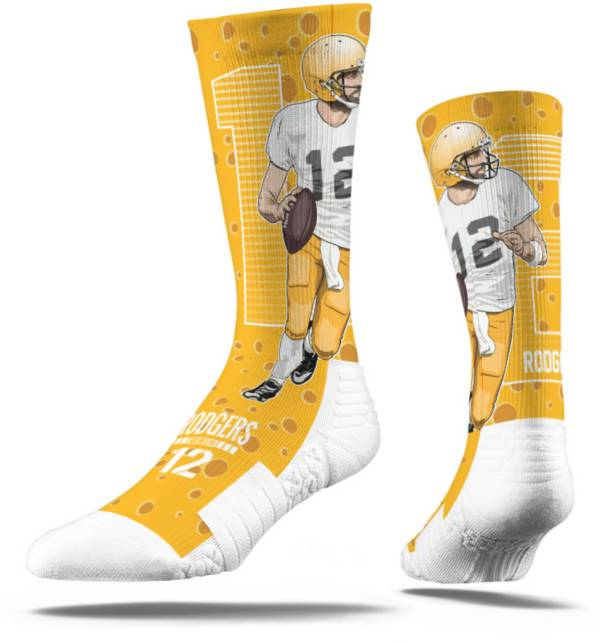 Strideline Green Bay Packers Aaron Rodgers Crew Socks product image