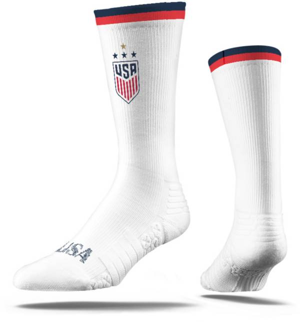 Strideline 2019 FIFA Women's World Cup USA Soccer White Cozy Crew Socks product image