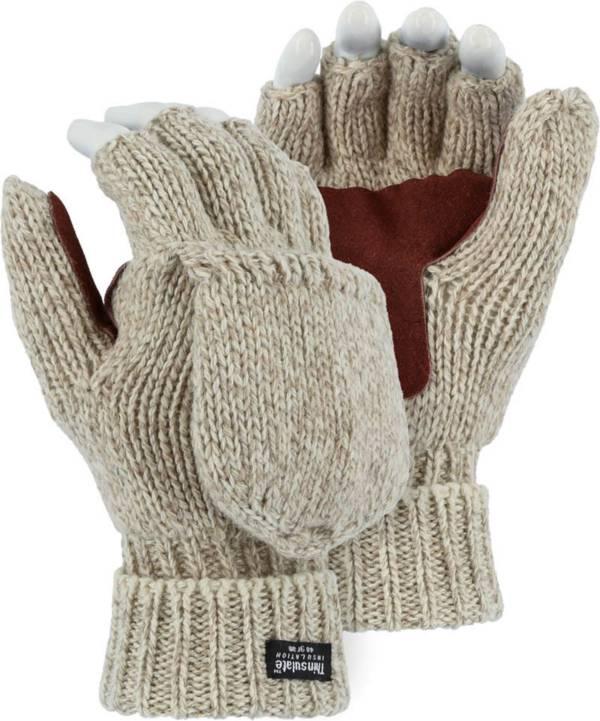 North Star Fur Men's Rag Wool Flip Top Mittens product image
