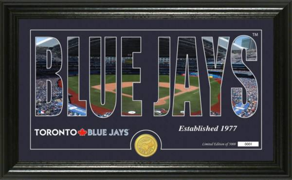 Highland Mint Toronto Blue Jays Silhouette Panoramic Bronze Coin Photo Mint product image