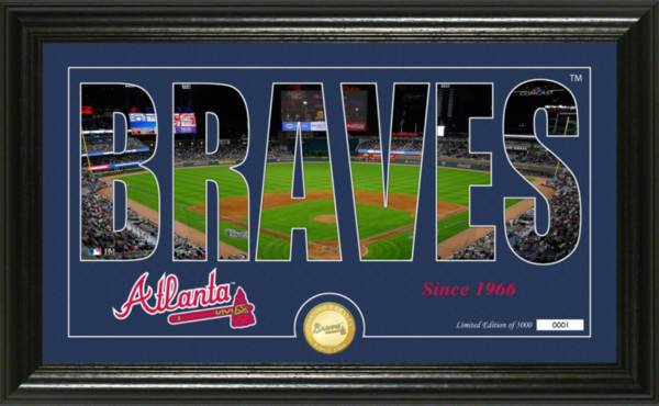 Highland Mint Atlanta Braves Silhouette Panoramic Bronze Coin Photo Mint product image