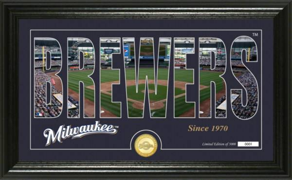 Highland Mint Milwaukee Brewers Silhouette Panoramic Bronze Coin Photo Mint product image