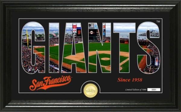 Highland Mint San Francisco Giants Silhouette Panoramic Bronze Coin Photo Mint product image
