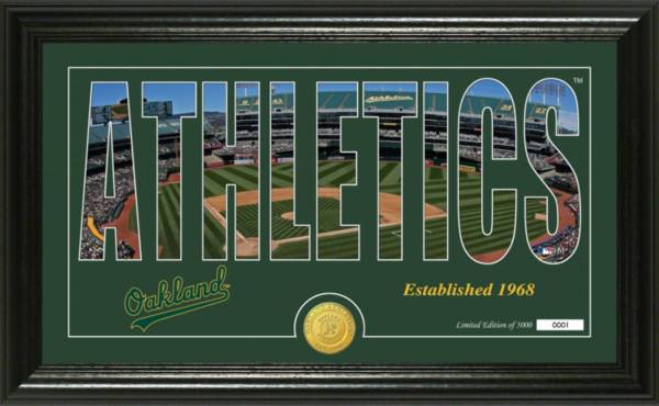 Highland Mint Oakland Athletics Silhouette Panoramic Bronze Coin Photo Mint product image