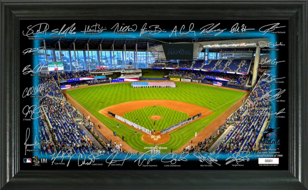 Highland Mint Miami Marlins Signature Field Photo Frame