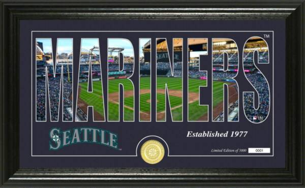 Highland Mint Seattle Mariners Silhouette Panoramic Bronze Coin Photo Mint product image