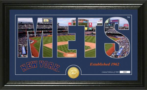 Highland Mint New York Mets Silhouette Panoramic Bronze Coin Photo Mint product image