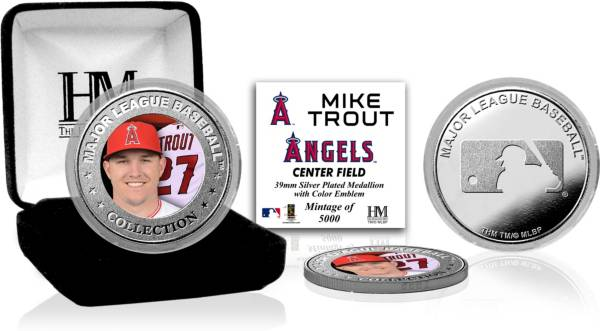 Highland Mint Los Angeles Angels Mike Trout Silver Color Coin product image